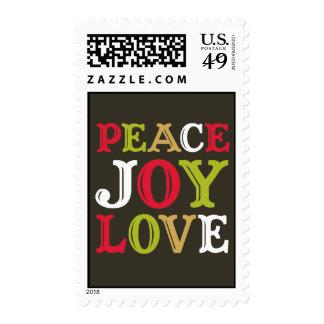 Navidad de la tipografía de la letra de molde del sellos