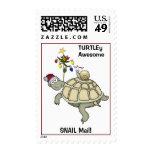 Navidad de la tortuga y del caracol. Snail mail. Sello