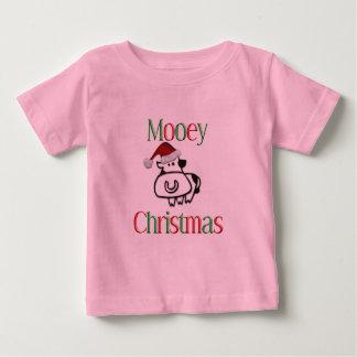 Navidad de la vaca de Mooey Tshirts