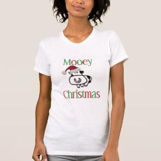 Navidad de la vaca de Mooey Tee Shirts