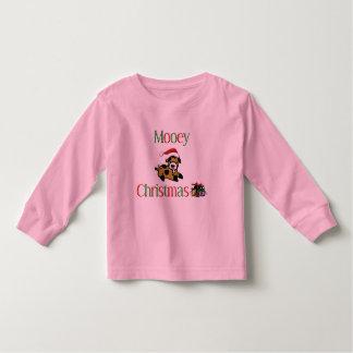 Navidad de la vaca de Mooey Camiseta