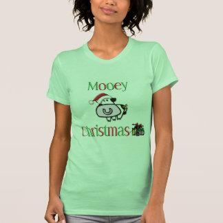 Navidad de la vaca de Mooey T Shirts