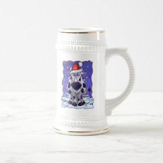 Navidad de la vaca tazas de café