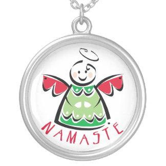 Navidad de la yoga de Namaste Collar Plateado