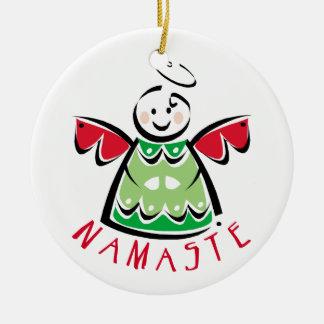 Navidad de la yoga de Namaste Adorno De Navidad