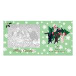 Navidad de Labrador que pinta Photocards Tarjeta Fotografica