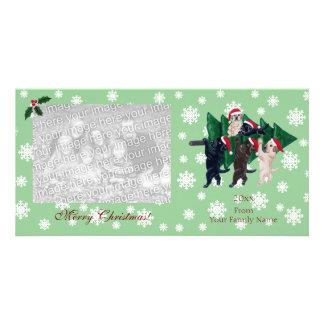Navidad de Labrador que pinta Photocards Tarjeta Fotografica Personalizada