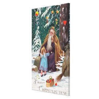 Navidad de las felices Navidad de un padre del tie Lienzo Envuelto Para Galerías
