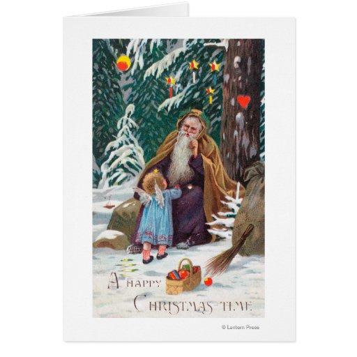 Navidad de las felices Navidad de un padre del tie Tarjetón