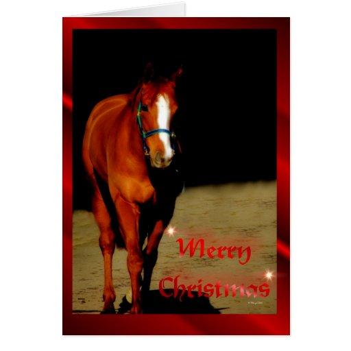 Navidad de las Felices Navidad del caballo del nav Felicitación