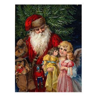 Navidad de las muñecas del Victorian del ángel de  Tarjetas Postales