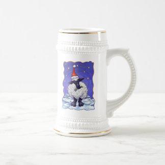 Navidad de las ovejas taza