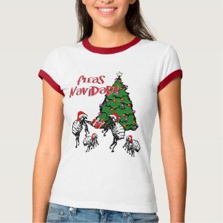 NAVIDAD de las PULGAS - Pulgas y árbol de navidad Playera