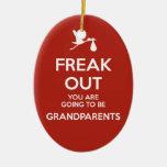 Navidad de los abuelos de la invitación del adorno