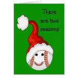 Navidad de los aficionados al béisbol felicitación