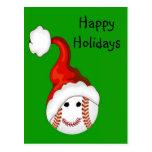 Navidad de los aficionados al béisbol postales