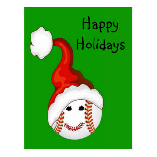 Navidad de los aficionados al béisbol tarjeta postal