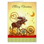 Navidad de los alces tarjeta de felicitación