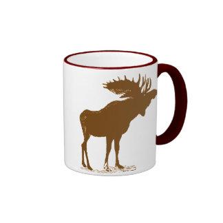 Navidad de los alces taza de café