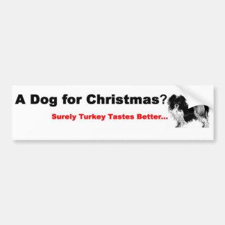 Navidad de los amantes del perro pegatina para auto
