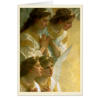 Navidad de los ángeles de Bouguereau Tarjeta De Felicitación