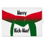 Navidad de los artes marciales felicitacion