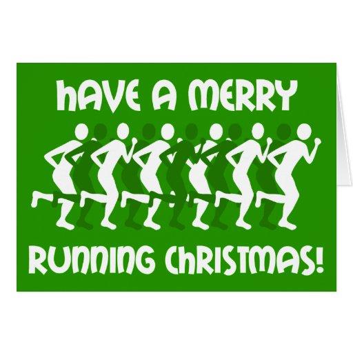 navidad de los corredores tarjetón