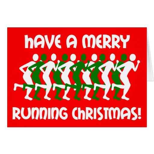 navidad de los corredores tarjeta de felicitación
