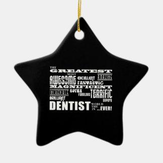 Navidad de los cumpleaños de los dentistas: El Adorno De Cerámica En Forma De Estrella