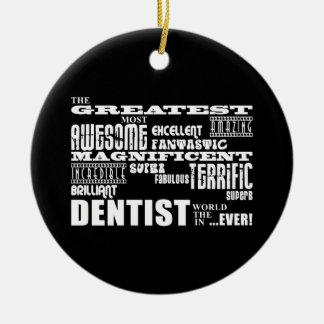 Navidad de los cumpleaños de los dentistas: El Adorno Redondo De Cerámica