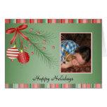Navidad de los días de fiesta de la plantilla de l tarjetón