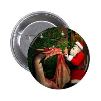 Navidad de los dragones pin redondo 5 cm