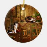 Navidad de los gatitos del calicó adornos de navidad
