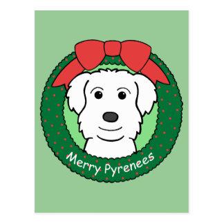 Navidad de los grandes Pirineos Postal
