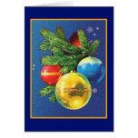 Navidad de los ornamentos del navidad del vintage tarjetas