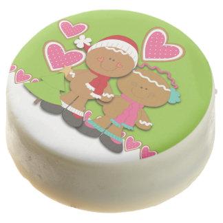 Navidad de los pares de la galleta del pan de