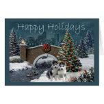 Navidad de los perritos del husky siberiano que ig
