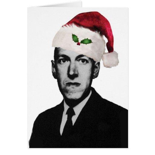 Navidad de Lovecraft Tarjetón