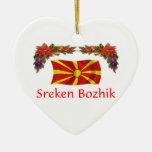 Navidad de Macedonia Adorno De Cerámica En Forma De Corazón