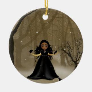 Navidad de madera del cuervo ornamentos de reyes magos