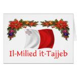 Navidad de Malta Tarjeta De Felicitación