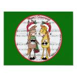 Navidad de Mare'y de los caballos de Caroling Invitación 10,8 X 13,9 Cm