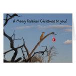 Navidad de Meery Kalahari - saludos de Seaons Felicitación