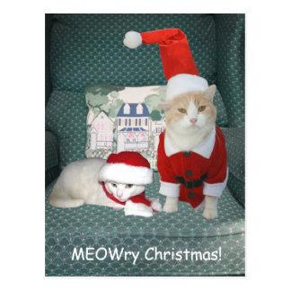 ¡Navidad de MEOWry! Postales