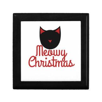 Navidad de Meowy Cajas De Joyas