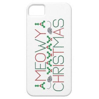 Navidad de Meowy iPhone 5 Cárcasas