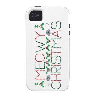 Navidad de Meowy iPhone 4/4S Carcasa