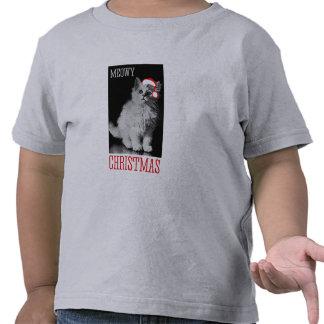 Navidad de Meowy - - humor del día de fiesta Camisetas