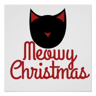 Navidad de Meowy Póster