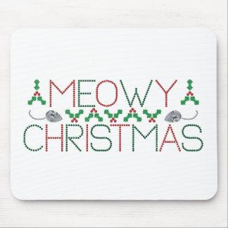 Navidad de Meowy Alfombrillas De Raton